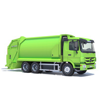 mercedes actros garbage truck 3d 3ds