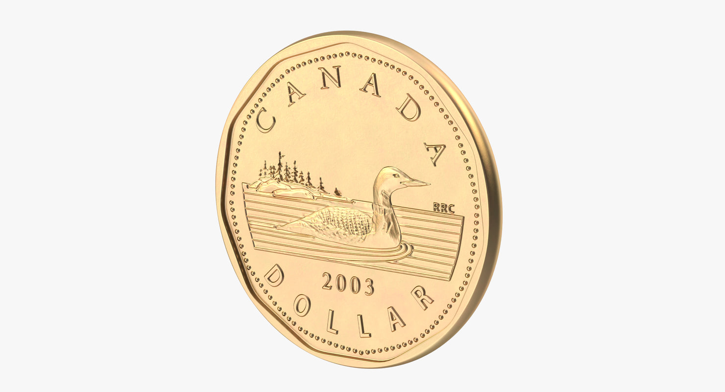 1 dollar coin 3d c4d