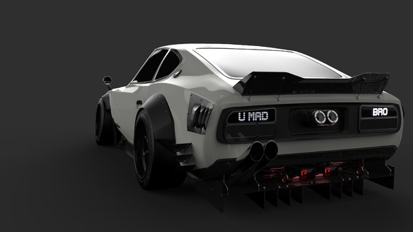 race tuned datsun fairlady obj