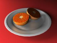 free fbx model orange