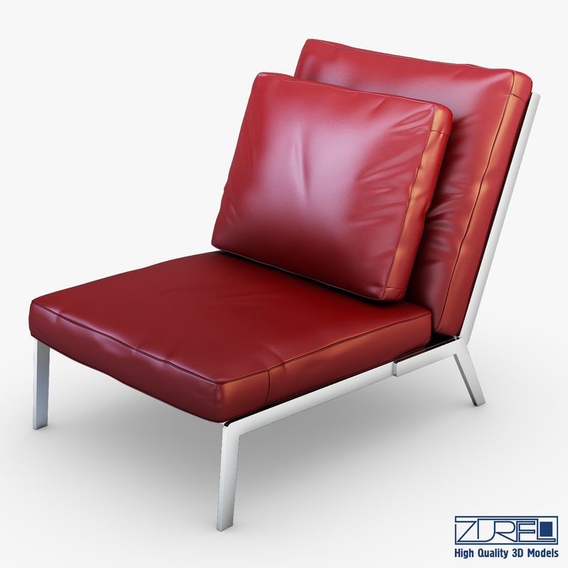 victory red leather 3d max