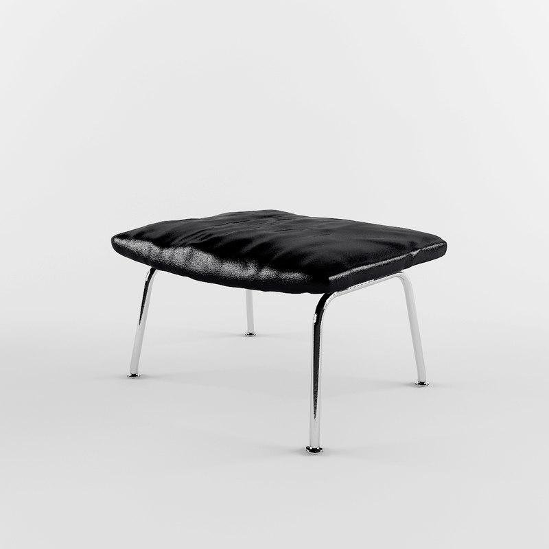 ottoman leather 3d model