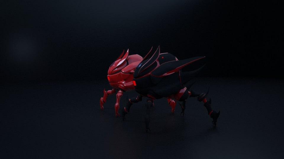 robot drones 3d model