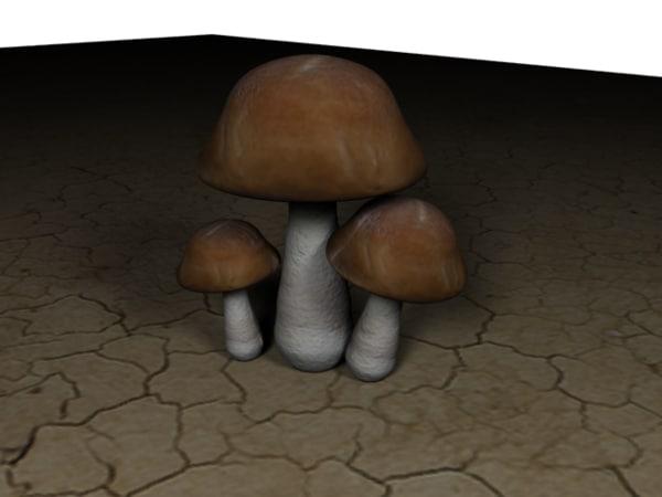 free obj model mushroom