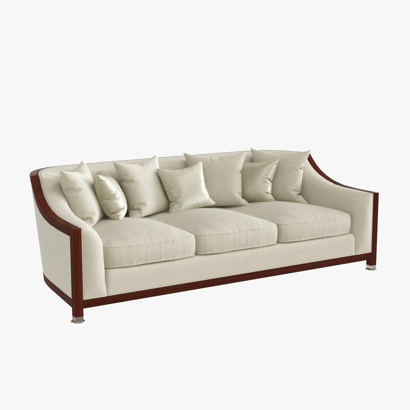 max grosvenor wood 3 seater