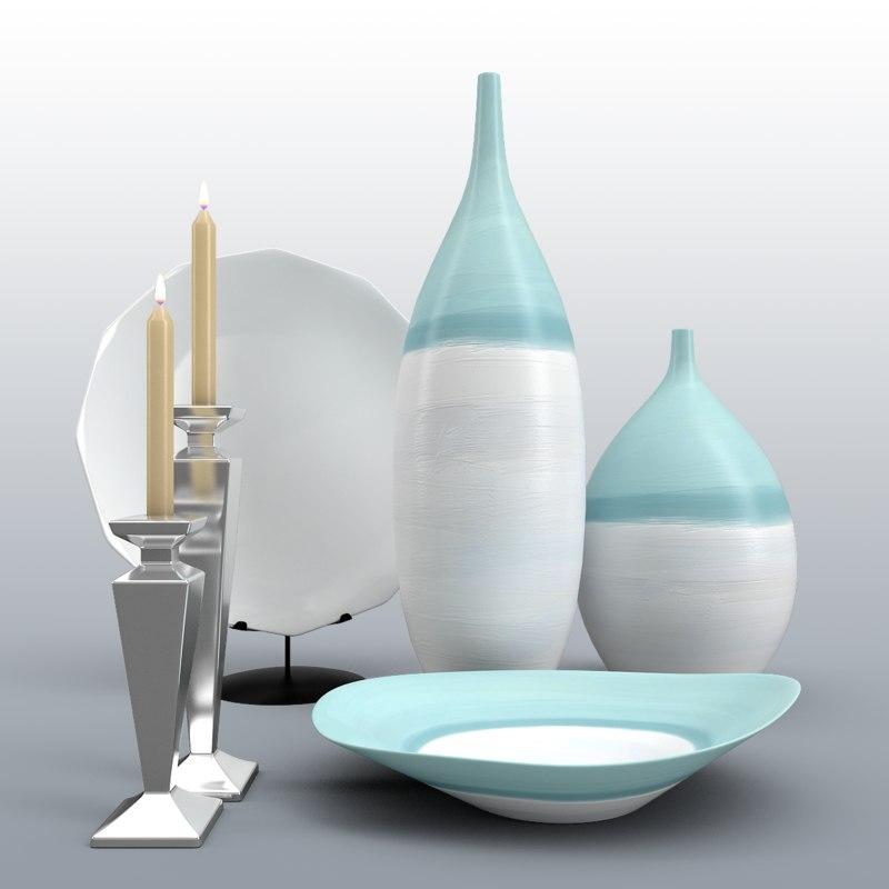 decor vases 3d max