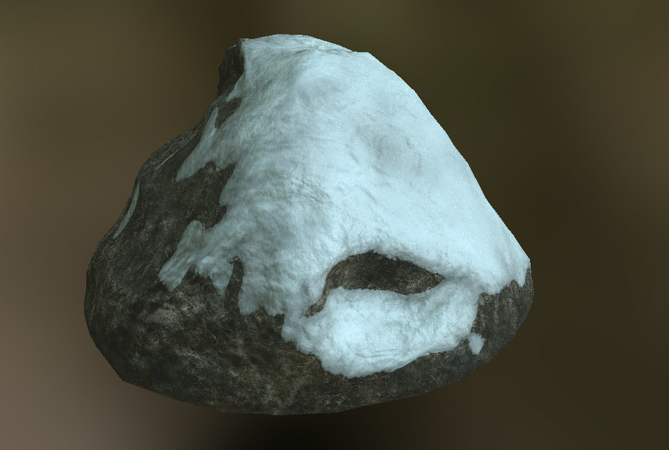 3ds max simple stone