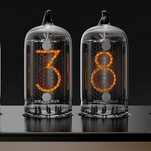 3d chronotronix nixie clock