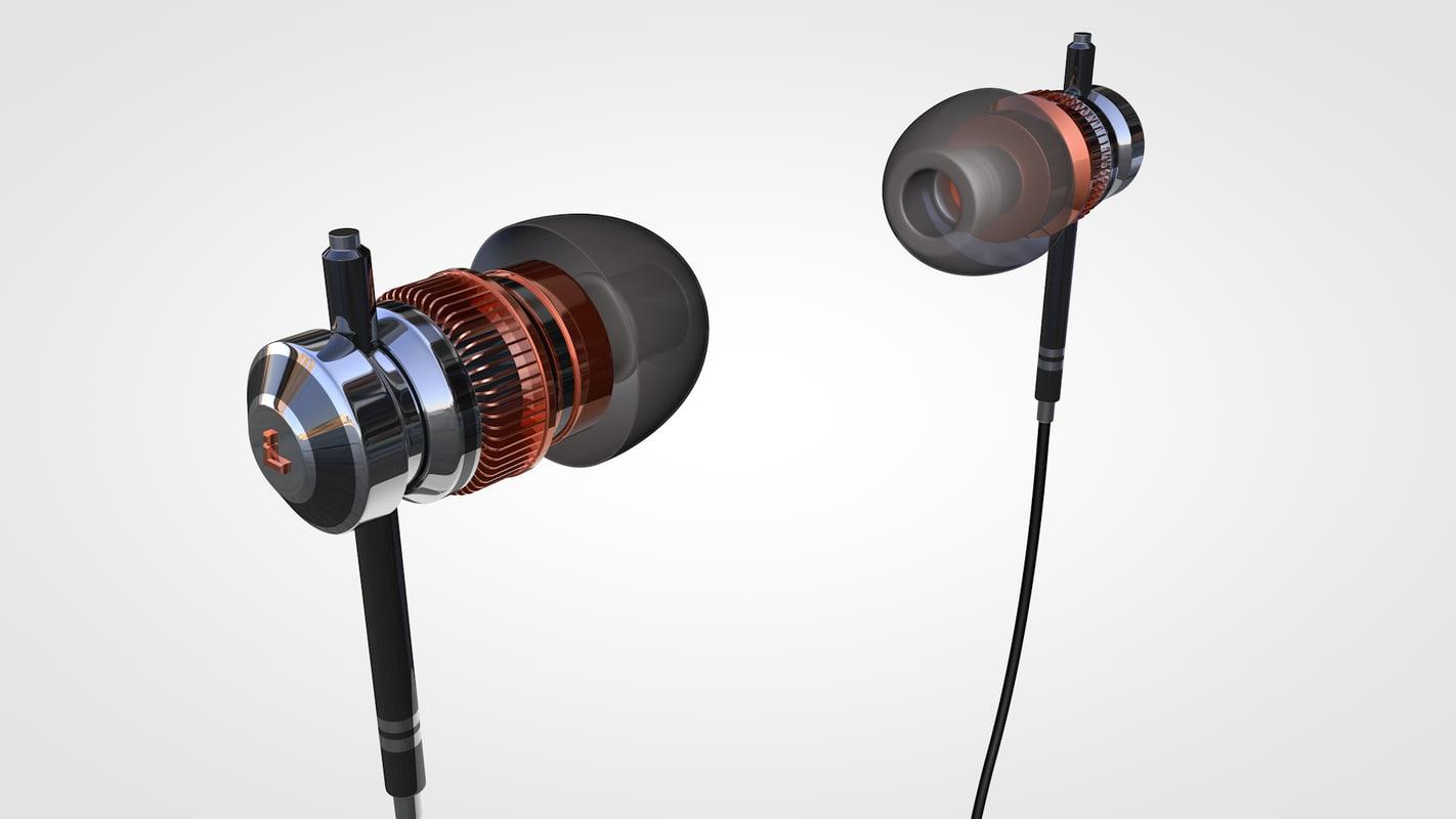 earphones concept 3d c4d