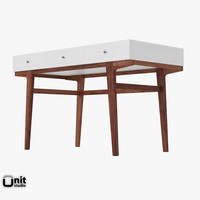 3d model file modern desk west