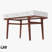 3d model file modern desk west