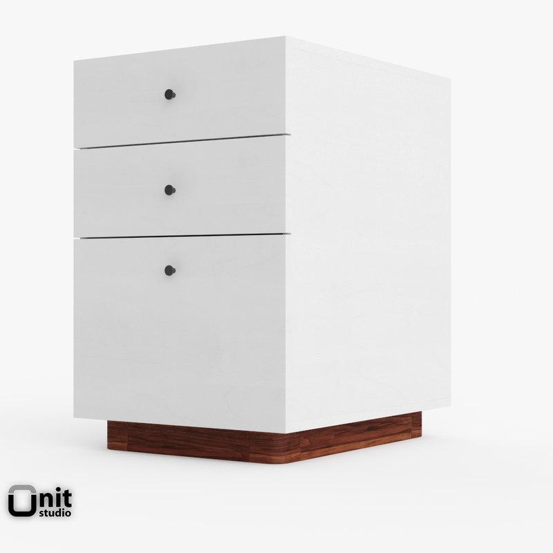 file modern cabinet west 3d model