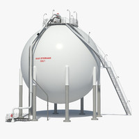 oil gas storage 3d fbx