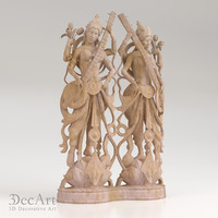 3d model of the goddess Saraswati | Gbr_005