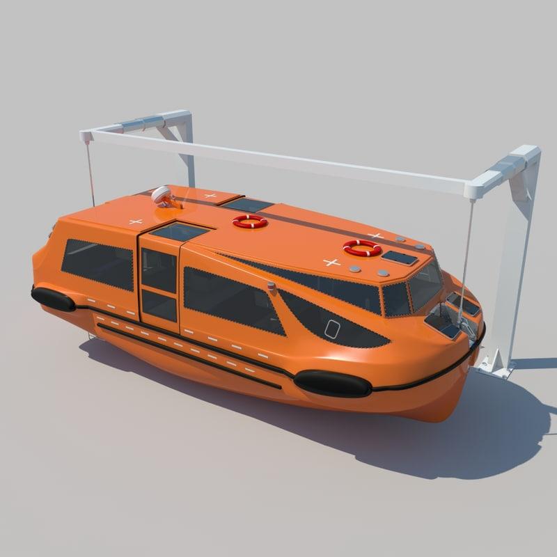 3d lifeboat tender