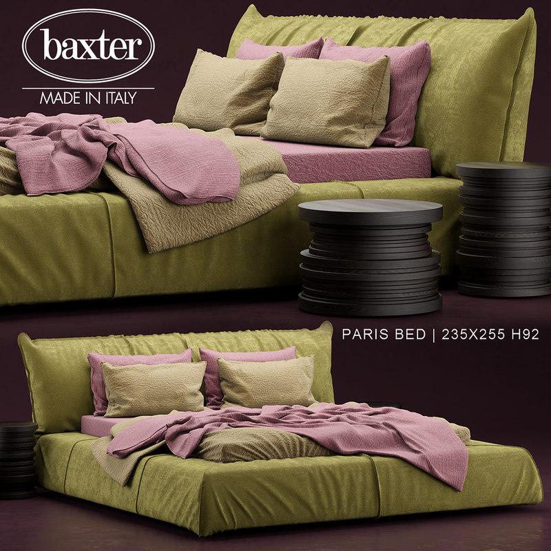 paris bed baxter 3d model