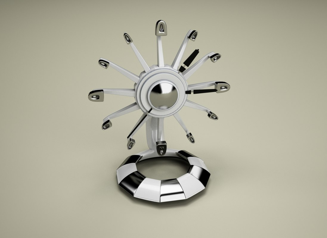 3d model of decorative table clock
