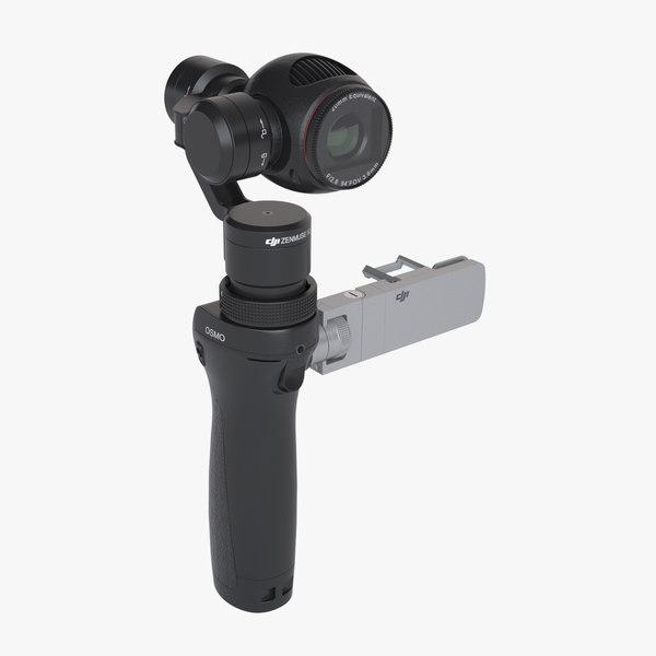 3d model photoreal gimbal camera dji