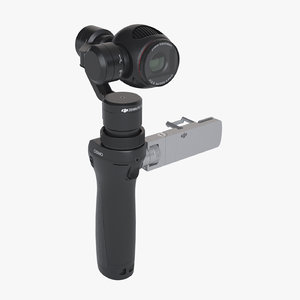 3d model photoreal gimbal camera dji