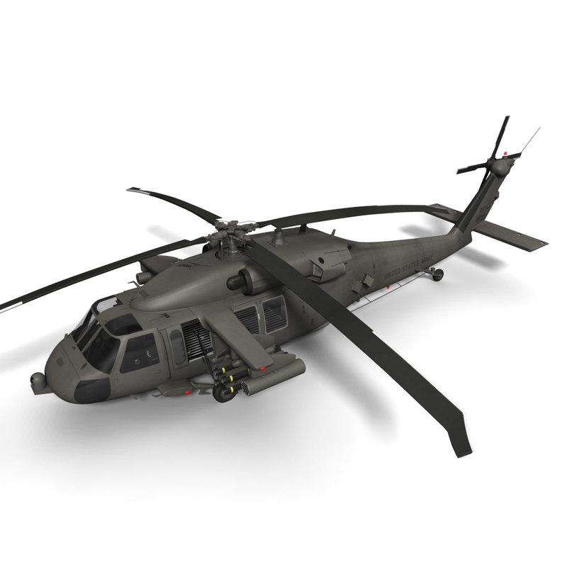 3d model of purchase uh-60m battlehawk sikorsky uh-60