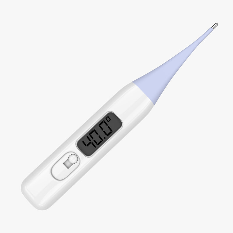 clinical thermometer 3d c4d