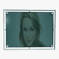 free advertising screen 3d model