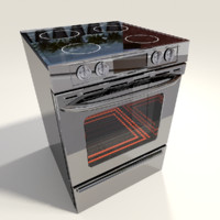 3dsmax stainless stove