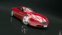 fantastic race car 3d model