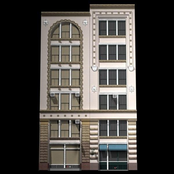 3d nyc historical building facade model