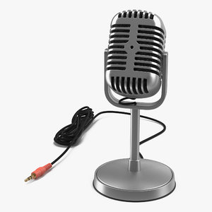 3d model classic studio microphone 3