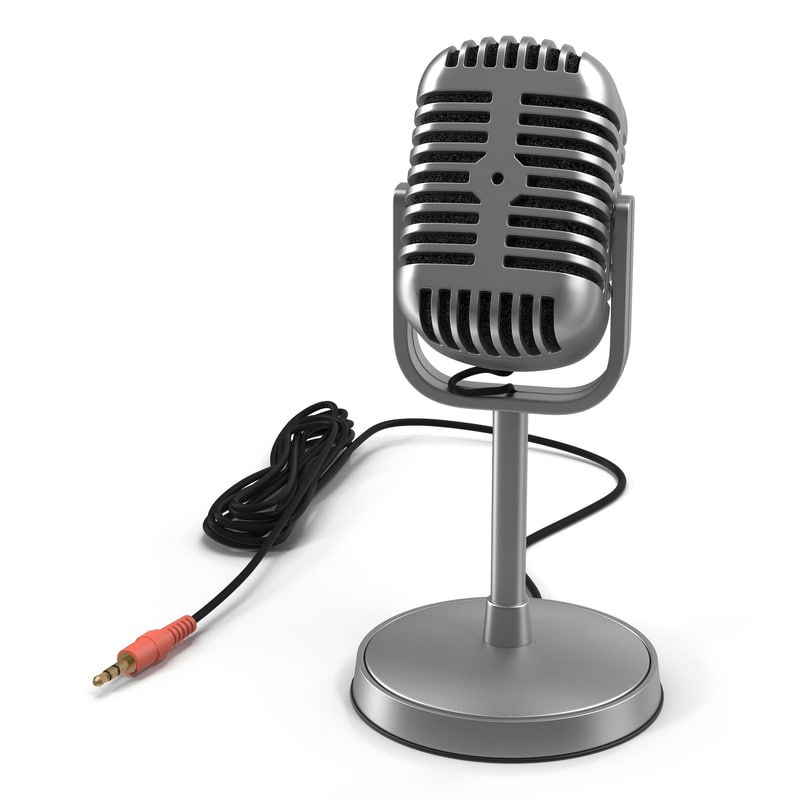 3d model classic studio microphone 3