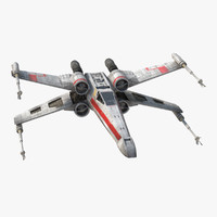 Star Wars X-Wing Starfighter Rigged Red
