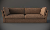3d meridiani quinn sofa interior model
