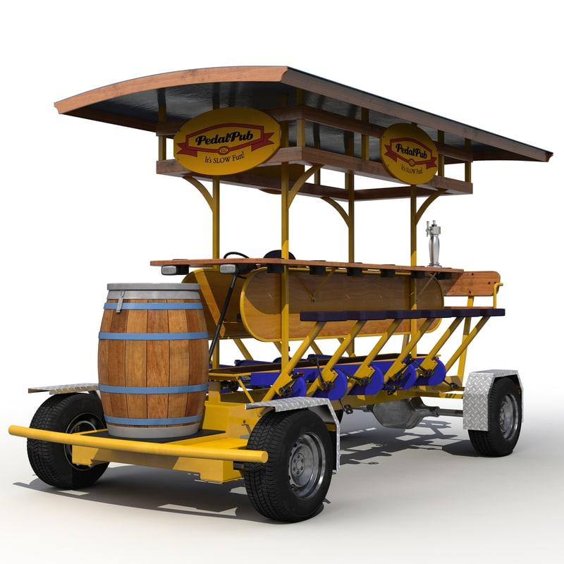 3d pedal pub model