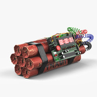 3d dynamite bomb