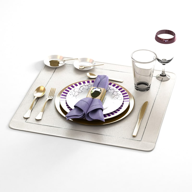 3ds max dinnerware table set