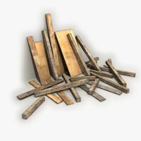 Old Wooden Trash