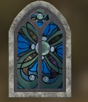Medieval Windows with Stained Glass