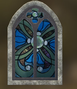 stained glass medieval 3d 3ds
