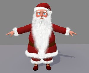 3d model cute cartoon santa claus
