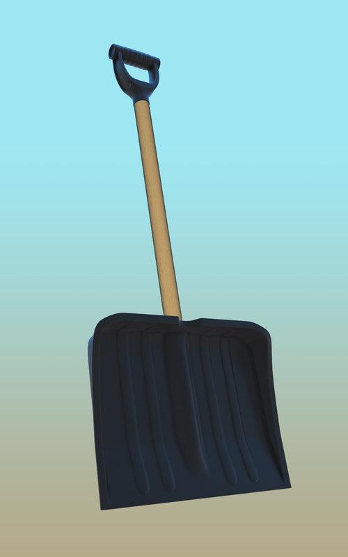 3d model snow shovels