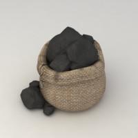 coal bag 3d max