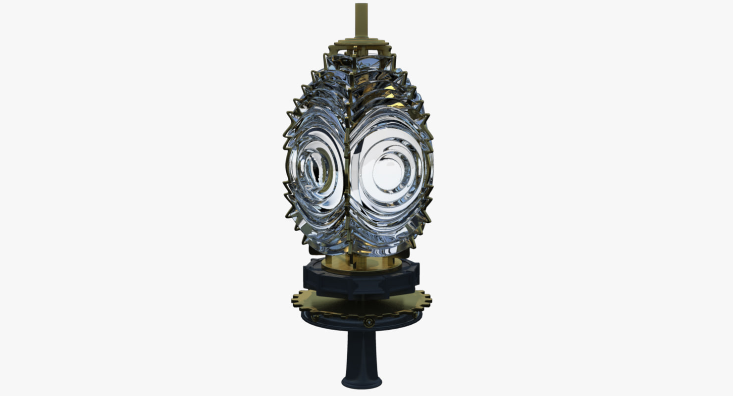 3d model fresnel lens lighthouses light