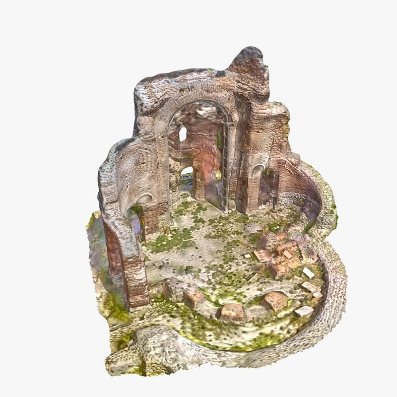 ruins 7 - red 3d max
