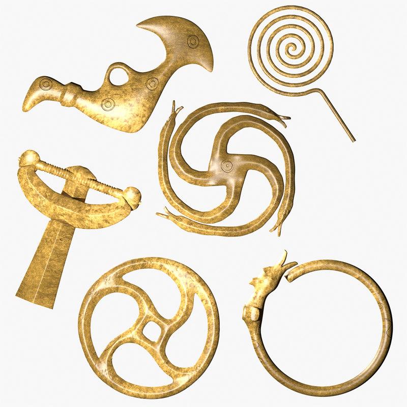 obj ancient ornaments