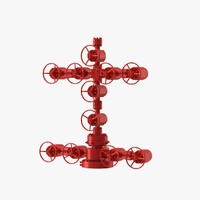 3d model wellhead christmas tree
