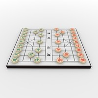 xiangqi chess board - 3d model
