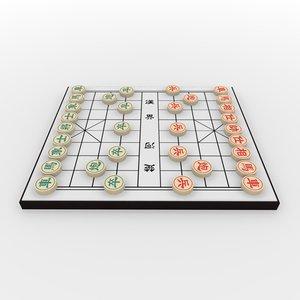 xiangqi chess board - 3d model