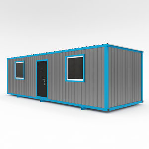 construction trailers 3d model