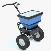 winter salt spreader 3d 3ds